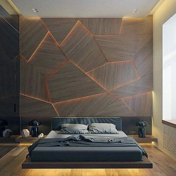 ideas-for-mens-bedroom-with-unique-wall-design
